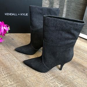 KENDALL & KYLIE Calie Mid Calf Denim Boot-NWT